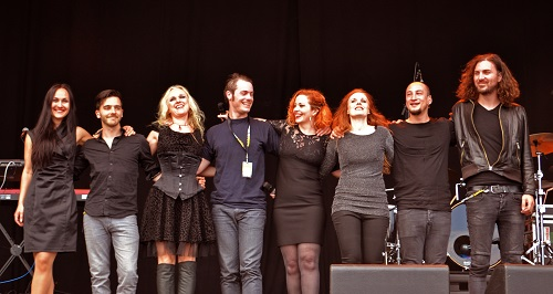 anneke van giersbergen and kari rueslåtten and liv kristine at sweden rock festival